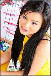Thai Girls Long Black Hair Pretty Smiling Face