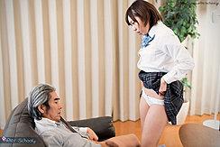Raising Plaid Skirt Showing Her Panties