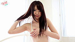 Pulling Long Hair From Her Back Arm Covering Small Tits