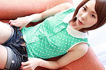 Ryouko Strips Green Polka Dot Top And Denim Shorts