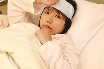 Teen Norika Makihara has shaved pussy fingered in hospital bed