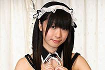 Breasty French maid Shizuku strips uniform and poses nude