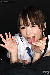 Student Mizushima Ai Licking Her Cum Covered Hands