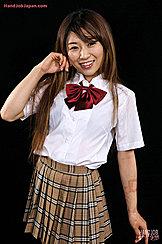 Long Hair Down Over Her Kogal Uniform Wearing Short Plaid Skirt