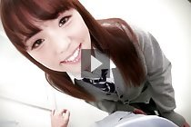 Cute student Ena Nishino fucked in classroom and receives facial