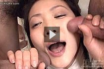 Small Tits Kogal Yuria Gets Bukkake Over Her Face And Breasts